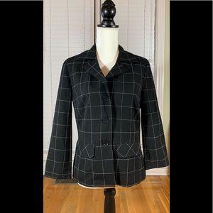 Trina Turk Jacket Blazer Black White 8